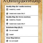 【Skyrim】マップに道が表示できる A Quality World Map 導入方法と使い方!【MOD】
